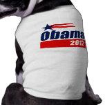 Obama 2012 playera sin mangas para perro