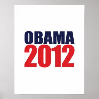 OBAMA 2012 -.png Poster