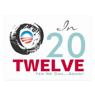 OBAMA 2012 podemos hacer campaña sí OTRA VEZ posta Tarjeta Postal