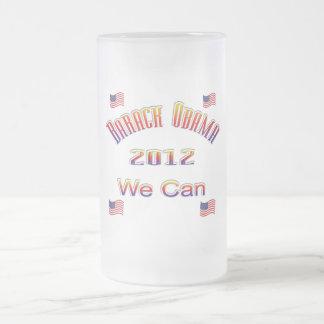 Obama 2012 podemos rojo taza