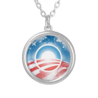 Obama 2012 podemos sí logotipo colgante redondo