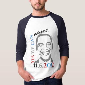 ¡Obama 2012 podemos sí otra vez! Camiseta del Remera