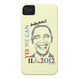 OBAMA 2012 podemos sí OTRA VEZ caso del iPhone 4 Carcasa Para iPhone 4 De Case-Mate