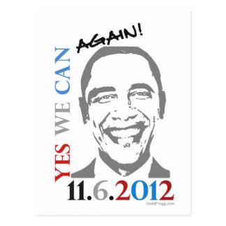 OBAMA 2012 podemos sí otra vez postal política