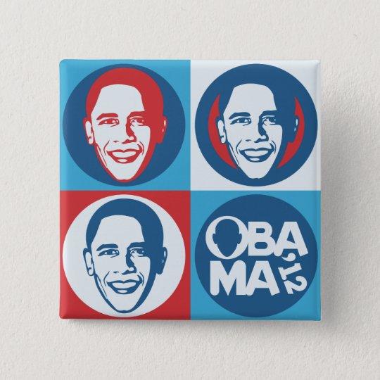 Obama 2012 Pop Art Square Button