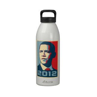 Obama 2012 poster botellas de beber
