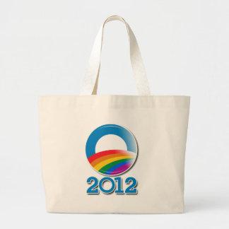 Obama 2012 Pride Button Canvas Bags