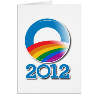 Obama 2012 Pride Button Stationery Note Card