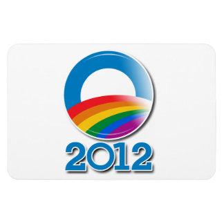 Obama 2012 Pride Button Magnet