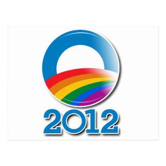Obama 2012 Pride Button Postcard