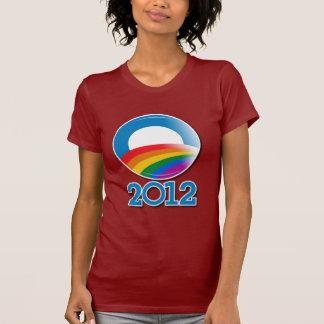 Obama 2012 Pride Button Tshirt