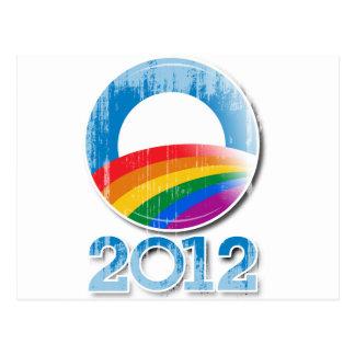 Obama 2012 Pride Button Vintage.png Postcard