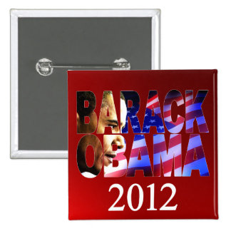 Obama 2012 Profile Cutout Campaign Button