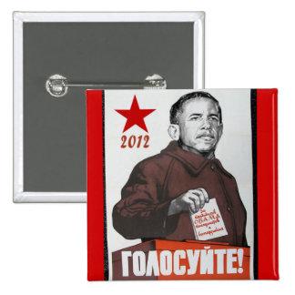 Obama 2012 propaganda button