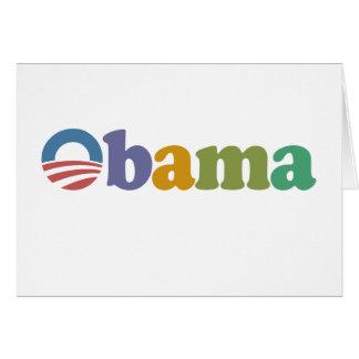 Obama 2012 Rainbow Card