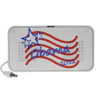 Obama 2012 rayas con 3 estrellas iPhone altavoces