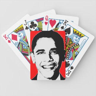 Obama 2012 re elige los naipes de Obama Cartas De Juego