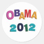 Obama 2012 Refrigerator Alphabet Magnet Sticker