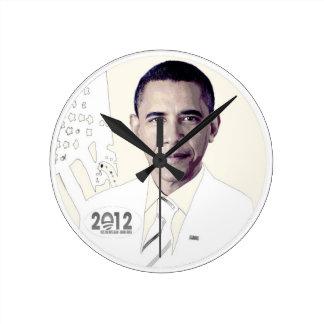 Obama 2012 round clock
