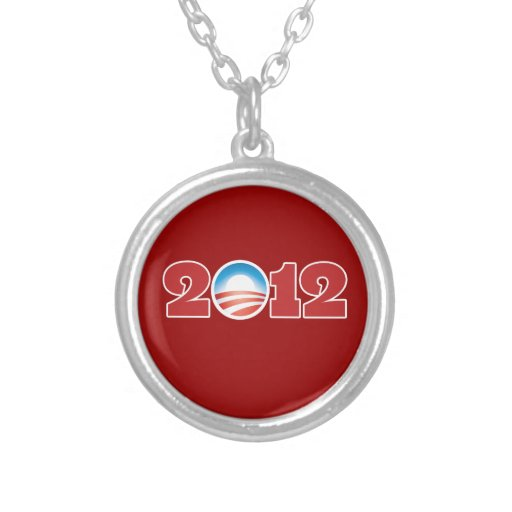 Obama 2012 round pendant necklace