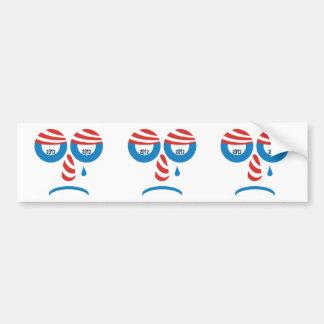 Obama 2012 Sad Face Car Bumper Sticker