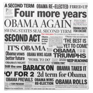 Obama 2012 servilletas del collage del título