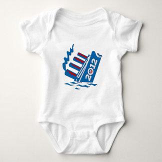 Obama 2012 Ship Sinking Baby Bodysuit