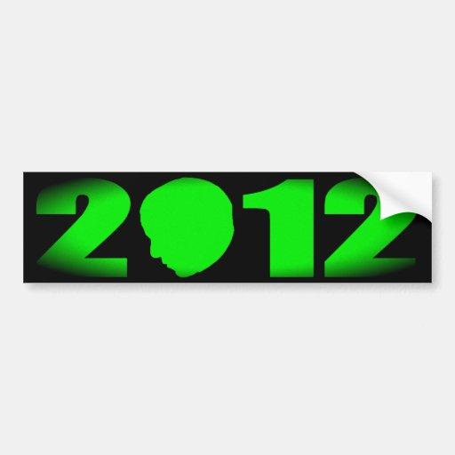 Obama 2012 Silhouette Bumper Sticker