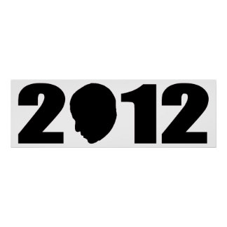 Obama 2012 Silhouette Poster