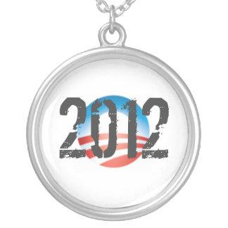 OBAMA 2012 Silver Necklace