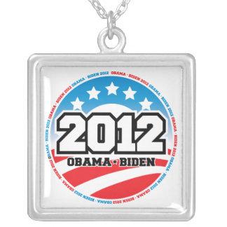 Obama 2012 square pendant necklace
