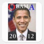 OBAMA 2012 SQUARE STICKERS
