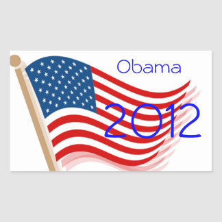 Obama 2012 rectangular stickers