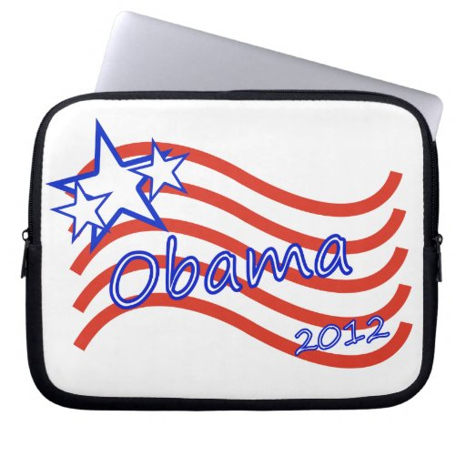 Obama 2012 Stripes With 3 Stars Computer Sleeves