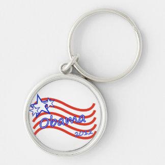 Obama 2012 Stripes With 3 Stars Keychain