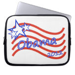 Obama 2012 Stripes With 3 Stars Laptop Computer Sleeves