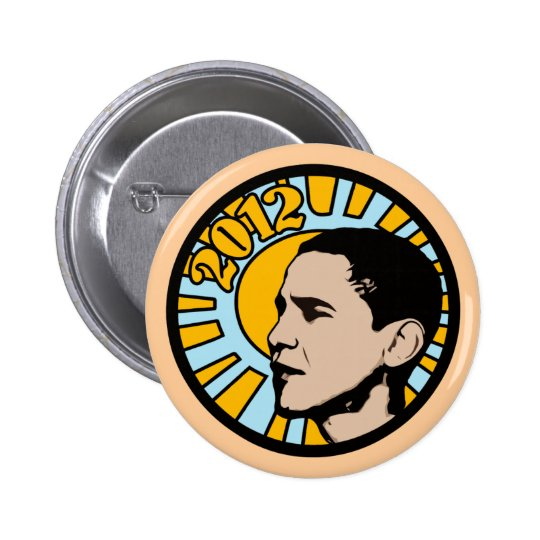 Obama 2012 Sun Buttons
