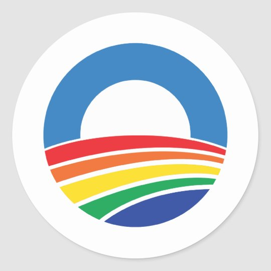 Obama 2012 Support for Gay Marriage Classic Round Sticker