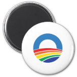 Obama 2012 Support for Gay Marriage Fridge Magnet