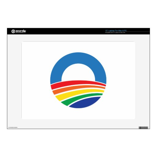 Obama 2012 Support for Gay Marriage Decal For Laptop