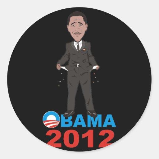OBAMA 2012 T SHIRT ROUND STICKERS