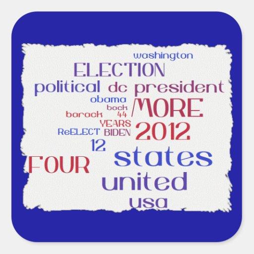 Obama 2012 Tag Cloud Sticker