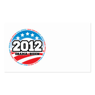 Obama 2012 tarjetas de visita