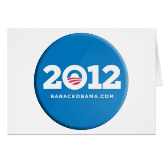 Obama 2012 tarjeta de felicitación