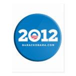 Obama 2012 tarjetas postales
