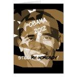 Obama 2012 tarjeton