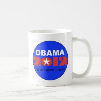 Obama 2012 taza básica blanca
