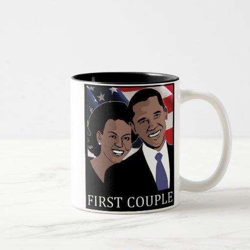 Obama 2012 taza de café de dos colores