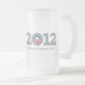 Obama 2012 taza de cristal