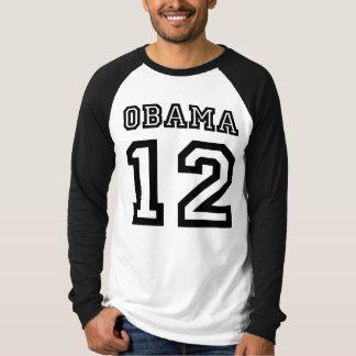 Obama 2012 Team Old School Raglan T Shirts